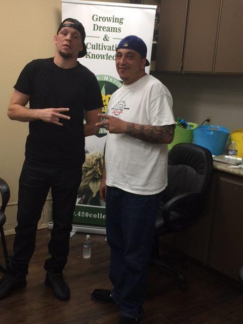 Nate Diaz at 420 college with George Boyadjian