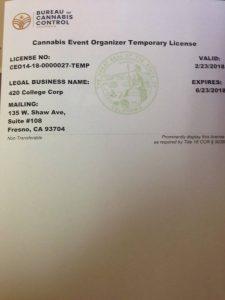 cannabis event permit