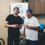 Nate Diaz and George Boyadjian at 420 College